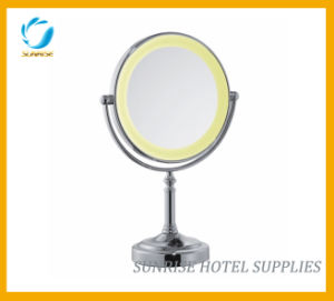 Desktop LED Make up Bath Mirror for Hotel pictures & photos