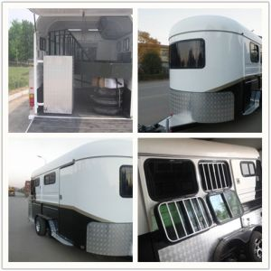 2hal Luxury Angle Load Horse Float pictures & photos
