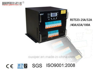 Static Transfer Switch with Rack (RSTS333-25A/32A/40A/63A/100A Rock series) pictures & photos