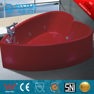 Romantic Economical Heart-Shaped Massage Bathtub (BT-Y364) pictures & photos