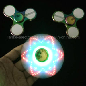 2017 Newest Design LED Flash Message Metal Hand Spinner (6000E)