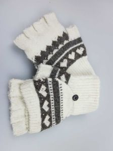 Girls Half Finger Gloves, Wool Knitted Gloves, Fashion Accessory Winter Gloves pictures & photos