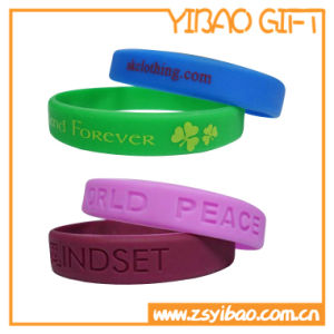Customized Silicone Wristband Watch with Printing Logo (YB-SW-18) pictures & photos