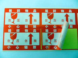 Factory Producing All Kinds of Fragile Stickers pictures & photos