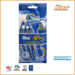 Hot Selling Triple Blades Disposable Shaving Razor with Best Price pictures & photos