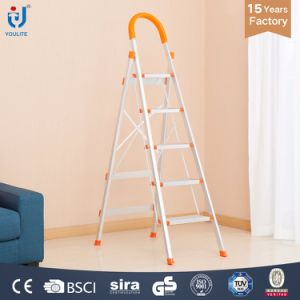 5 Step En131 Certificate High Quality Household Foldable Aluminium Ladder pictures & photos