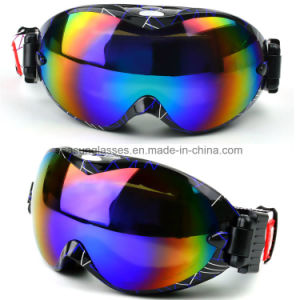 China Newest Style Nice Snow Eyewear Ce Standard Logo Custom Ski Snowboard Goggles pictures & photos
