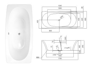 High Quality Acrylic Chinese Bathtub Tcb038d pictures & photos