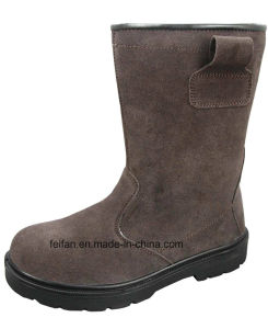 Suede Leather Safety Boots with Gum Outsole pictures & photos