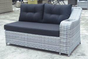 Polywood Table Loungest Sofa Outdoor Patio Wicker Garden Rattan Sofa Set (J610-POL) pictures & photos