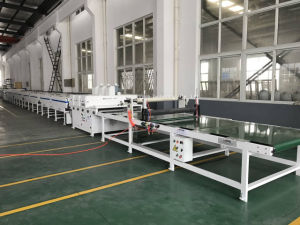 New WPC PVC Spc Artificial Marble Stone Floor Board Machine with UV Coating pictures & photos