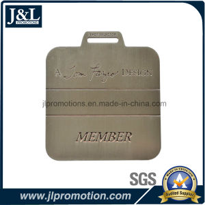 Die Casting Zinc Alloy Golf Bag Tag with Laser Engraving Text pictures & photos