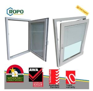 Top Quality UPVC White Color High Anti-UV Double Glazed Windows pictures & photos