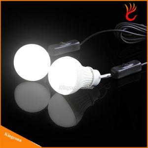 6v solar panel powered solar led bulb solar outdoor light with 2 bulb