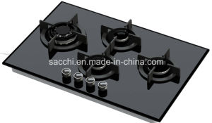 4 Burner Tempered Glass Gas Hob -Gna476 pictures & photos