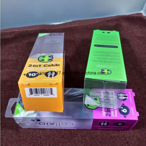 UV Printing Data Cable Packaging Plastic Box pictures & photos