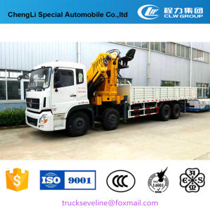 Popular Dongfeng 8*4 Folding Arm Truck with Crane pictures & photos