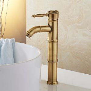 FLG Bathroom Basin Faucet with Bamboo Design Deck Mounted pictures & photos