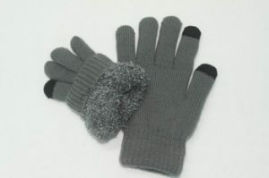 Soft Mens Screen Touch Knitting Gloves pictures & photos