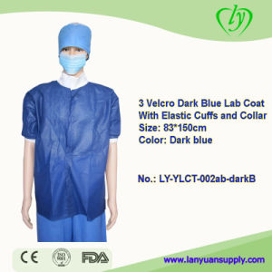 Non Allergenic Disposable Lab Coats Short Sleeve pictures & photos