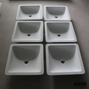 Man Made Stone Above Counter Solid Surface Bathroom Basin pictures & photos