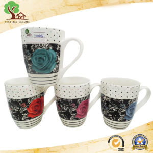 Design with Beautiful Flowers Ceramic Cup pictures & photos