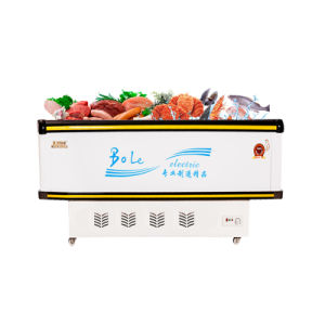 Showcase Display Sliding Door Compact Fridge with LED Light pictures & photos