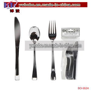 Party Items Silver Plastic Utensils Party Decoration Yiwu Market (BO-5524) pictures & photos