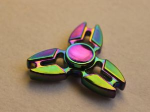 High Speed Steel Bearing Finger Spinner Toy Perfect