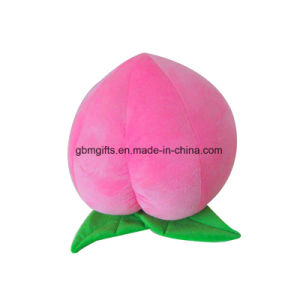 New Design Pink Stuffed Plush Fruit Peach Toys pictures & photos