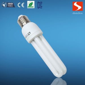 Straight U Shape 3u 9W CFL Principle Energy Saving Lamp pictures & photos