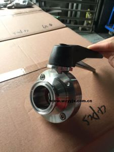 Sanitary Tri-Clamp Butterfly Valve (Center Suck Bolt Type) pictures & photos