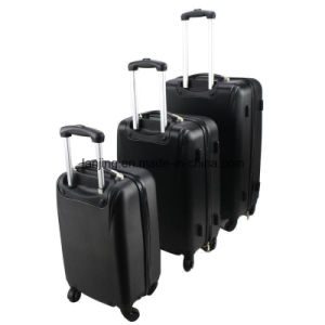 New 3PCS Black Luggage Travel Set Bag ABS Trolley Suitcase pictures & photos