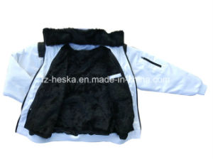 New 3-in-1 Coats Mens Short Winter Fur Bomber Jacket pictures & photos