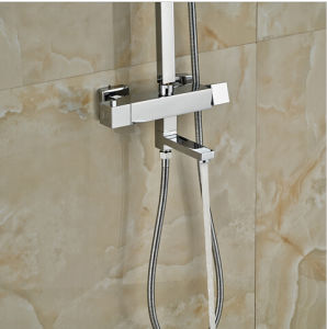"""Thermostatic Bath Tub Shower Mixer with Hand Shower 8"""" Rain Showerhead pictures & photos"""