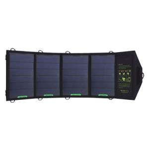 Hige Conversion 18W Sunpower Foldable Battery Powerbank 4 Panel Solar Charger pictures & photos