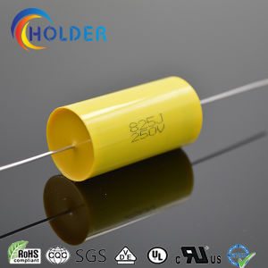 Flat Type Axial Cbb20 825j/250V Metallized Polypropylene Film Capacitor Yellow pictures & photos