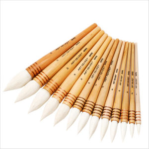 30rq Goat Hair Wooden Handle Painting Brush pictures & photos