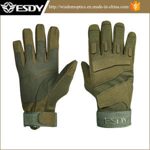 Green Military Tactical Shooting Gloves Outdoor Full-Finger Cycling Gloves pictures & photos