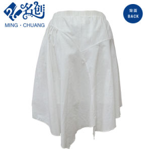 White Cotton Adjusted-Waist Cotton Fashion Ladies Skirt pictures & photos