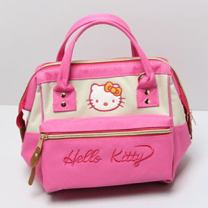 Mixed Color Canvas Cute Cat Pattern Designer Handbag (A0114-2) pictures & photos