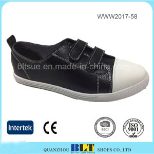 Popular Fashion Design Magic Button Women Flat Shoe pictures & photos