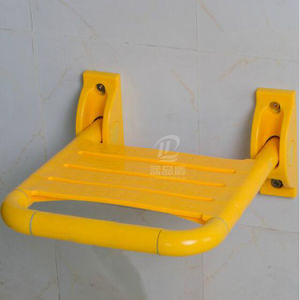 Bathroom Fitting White Yellow Nylon Cover Foldable Shower Bath Chair pictures & photos