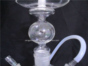 Simple Transparent Glass Smoking Hookah Pipe pictures & photos