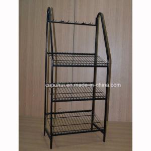Floor Metal Folding Mats Display Fixture (pH15-108) pictures & photos