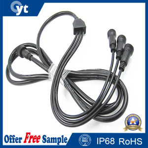 1 to 3 IP68 Waterproof Rubber Cable with Connector for LED pictures & photos