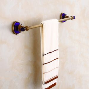FLG Antique Single Towel Bar with Solid Brass Blue Crystal Decoration pictures & photos