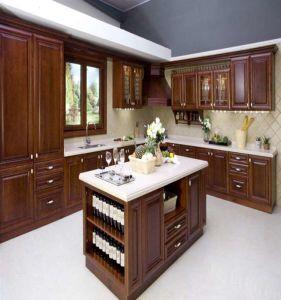 L Shaped Modern Melamine Kitchen Cabinet (AGK-028) pictures & photos