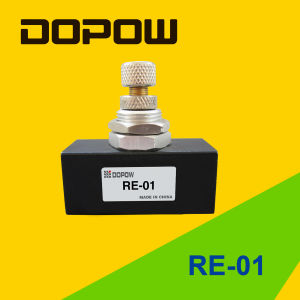 "Re-01 Pneumatic One Way Air Flow Control Valve Black 1/8"" pictures & photos"