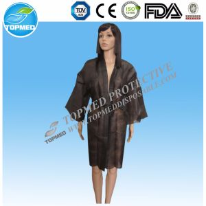 New Design PP Disposable Nonwoven Sexy SPA Kimono/Nonwoven Bedgown pictures & photos